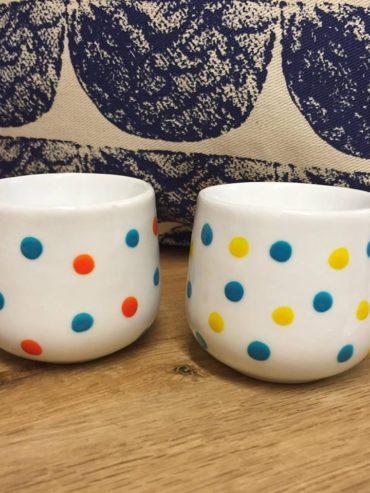 Yellow Blue & Orange Egg Cups