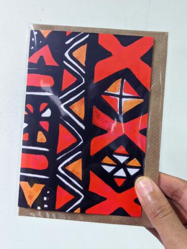 Mud Cloth Greeting Card