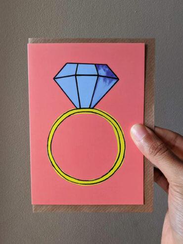 Congrats bling Engagement Card