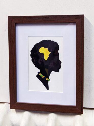 African Woman Framed Art